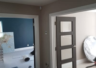woodwork and architraves